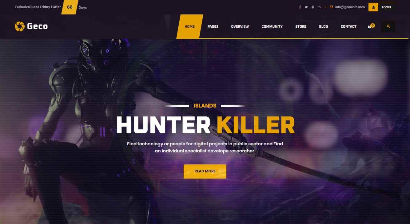 Geco Premium eSports Template