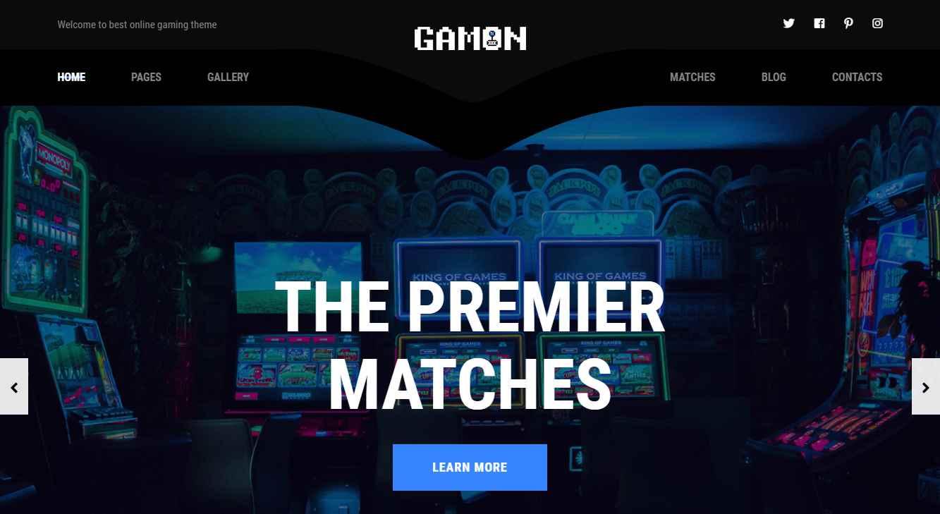 Gamon Premium eSports Template