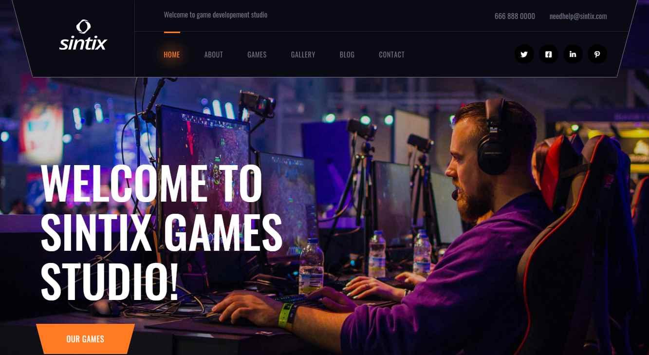 Sintix Premium eSports Template