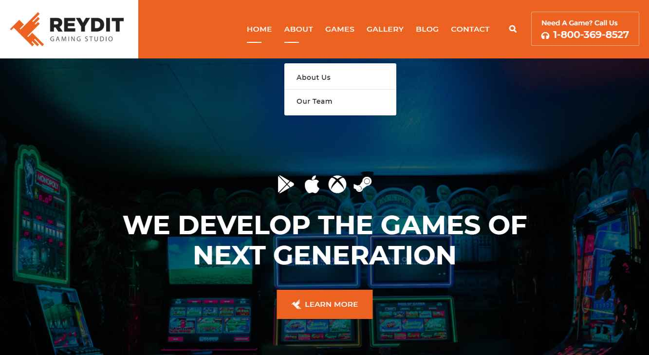 Reydit Premium eSporst Gaming Template