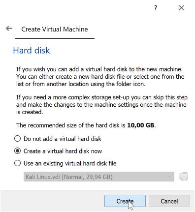 Virtual Hard Disk VirtualBox