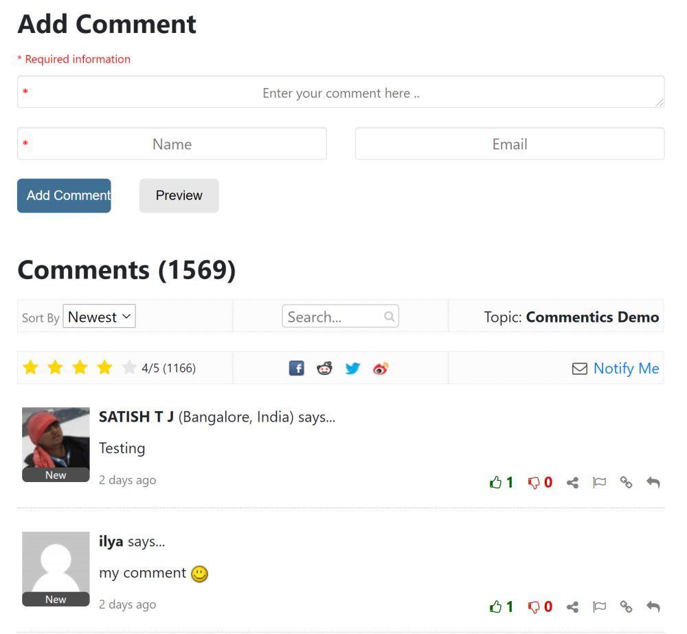 Commentics