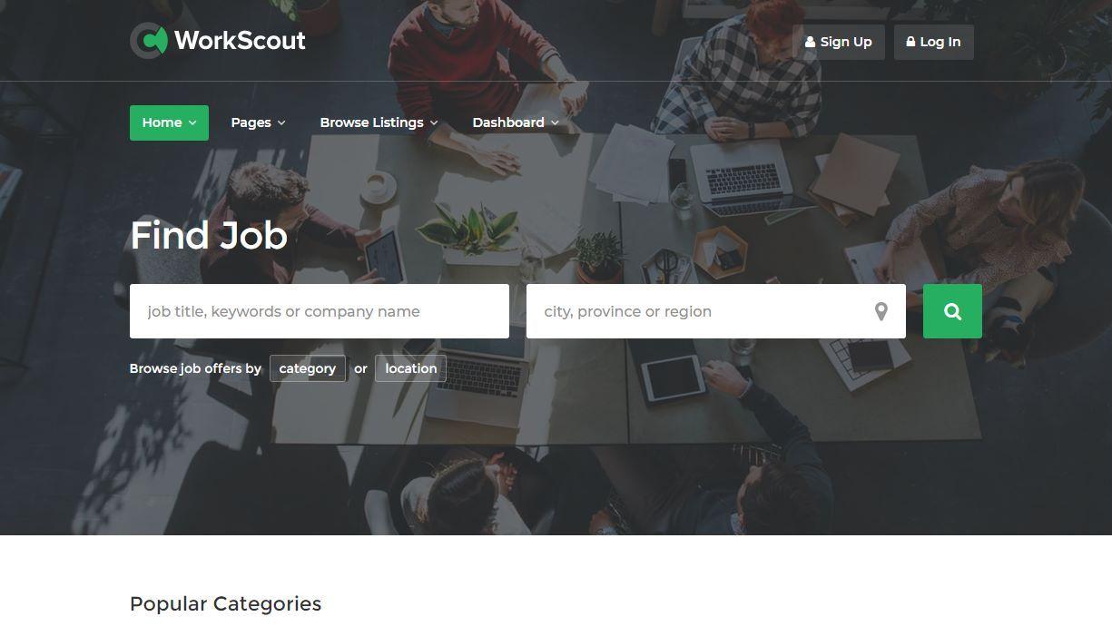 WorkScout Premium Job Portal Template
