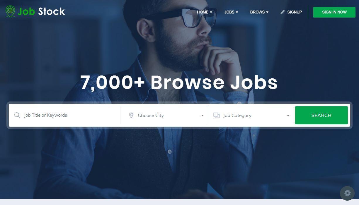 Premium Dashboard Job Stock