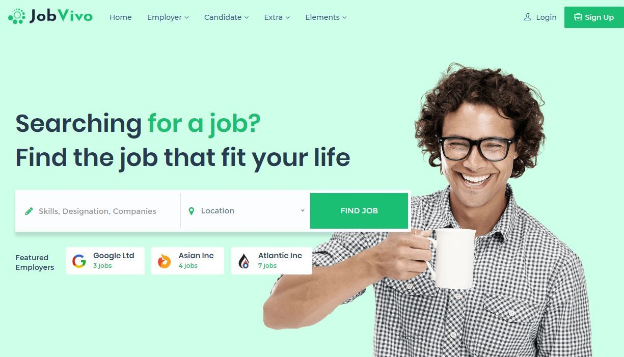 JobVivo Premium Job Portal Template