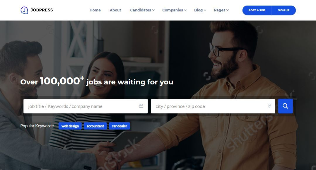 JobPress Premium Job Board Template