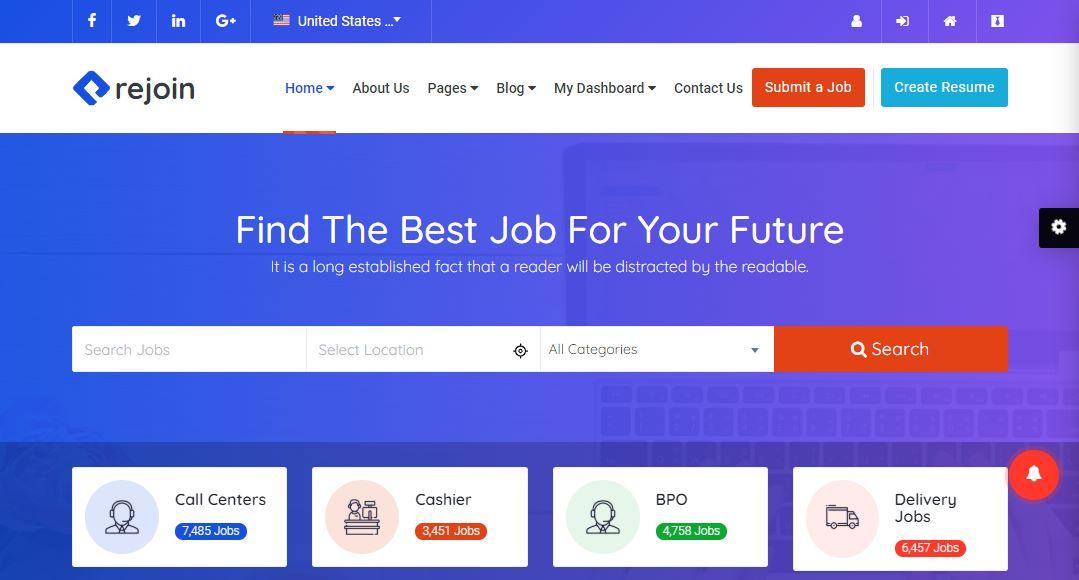 Rejoin Premium Jobboard Template