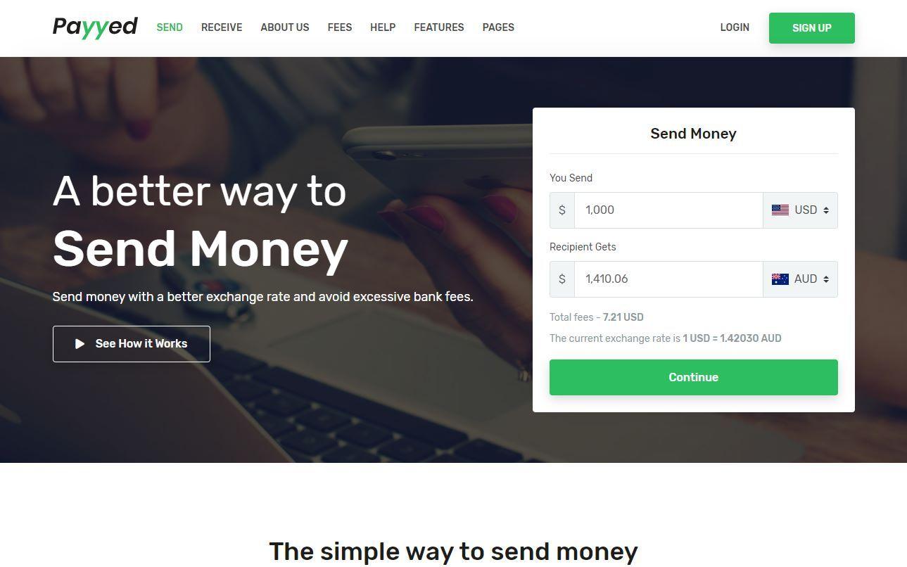 Payyed Premium Money Transfer Template