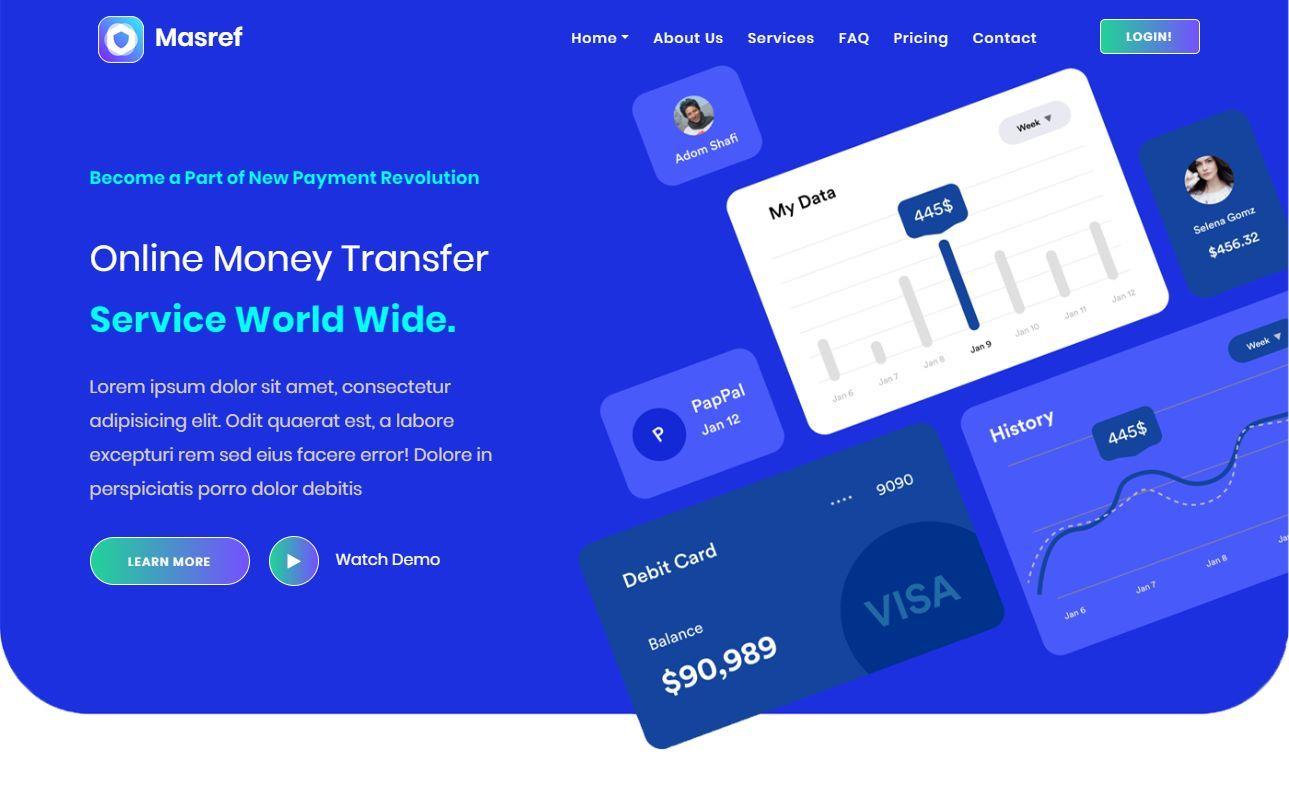 Masref Premium Money Transfer HTML Template